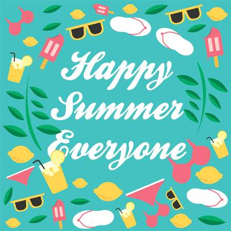 Happy Summer Everyone. This summer time, time for enjoy your holiday in the beach. Get ready for some ice cream and lemon.