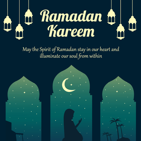 Ramadan Kareem. Marhaban ya Ramadan. Welcome Ramadan a holy month for muslim around the world.