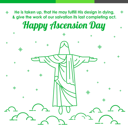 Happy Ascension Day Stock Illustratie