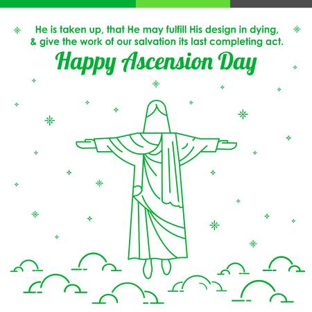 Happy Ascension Day Illustration