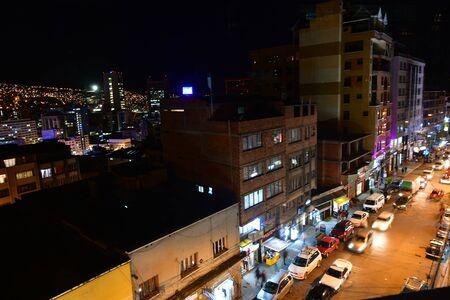 Bolivia, La Paz, night city