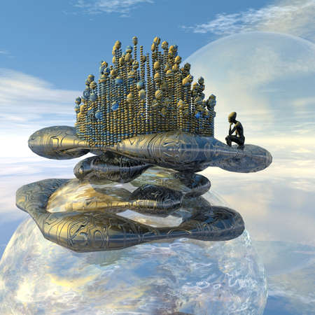 fata morgana: My island above the clouds
