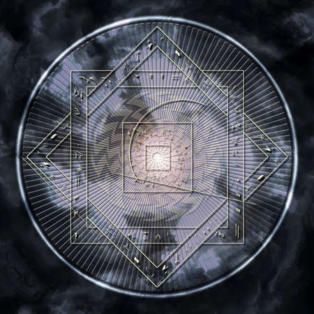 future twin: Astrological disc