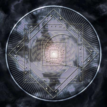 Astrologische Scheibe Standard-Bild - 26093582