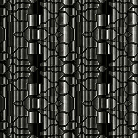 Metal Background Pattern, Techno (Seamless-Tiling) photo