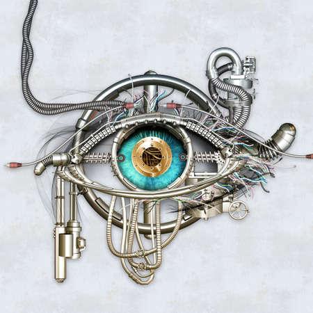 Mechanical eye in direct eye contact