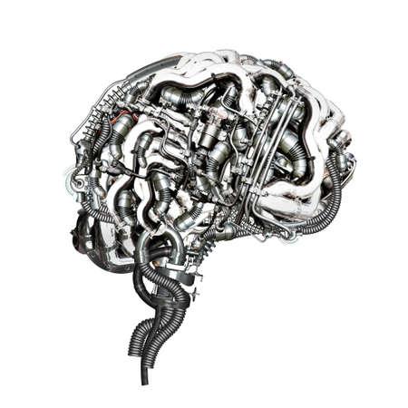 Un super-cervello meccanica in sezione trasversale Archivio Fotografico - 31505135