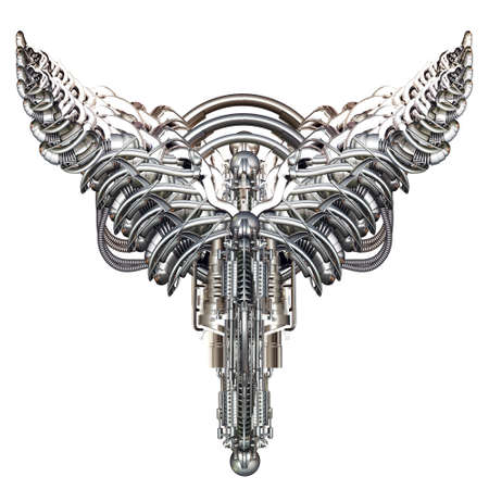 spread wings: Two mechanical engineering wings of machine elements