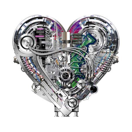 Un corazón técnicamente mecánica en trabajo duro