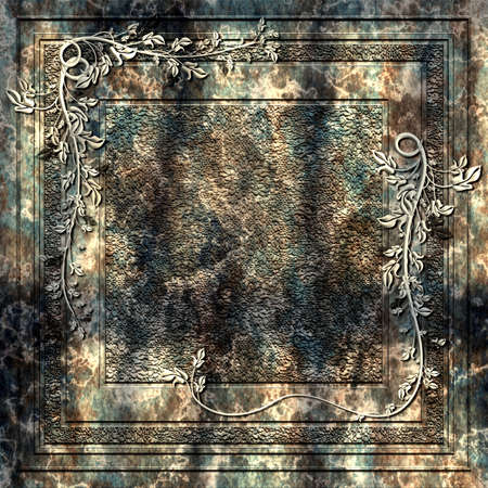 slab: A heavy slab of stone with ornaments