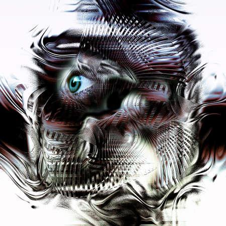 confundido: Una representación simbólica de una persona confundida