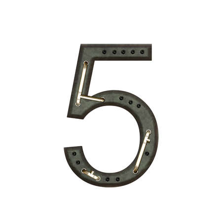 technically: Number technically, five Stock Photo