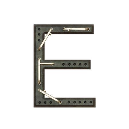 technically: Technically alphabet, letter E