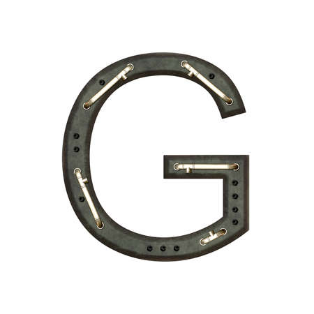 technically: Technically alphabet, letter G Stock Photo