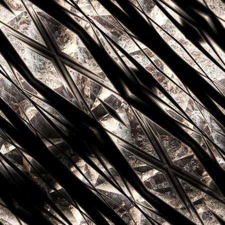 Dark Fantasy Background in Metal, seamless tiling