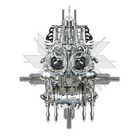 benevolent: A pleasant contemporary Consisting of machine parts Stock Photo