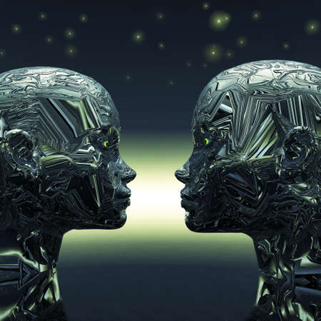 extra terrestrial: Two Extra Terrestrial looking into each others eyes