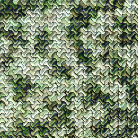 texture of illustration: Intricate pattern in shades of green blue and white Stock Photo