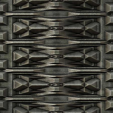 metal grid: Dark background with grid metal parts, seamless tiling
