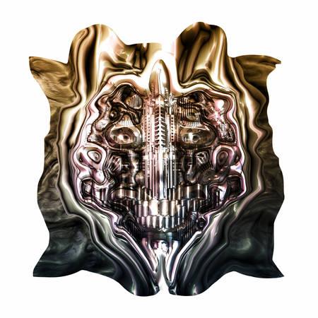 homo: Skull of many mechanical parts, Homo Mechanicus