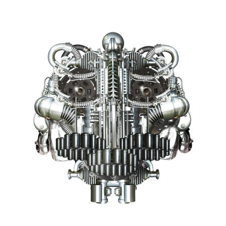 mechanical parts: Skull of many mechanical parts, Homo Mechanicus