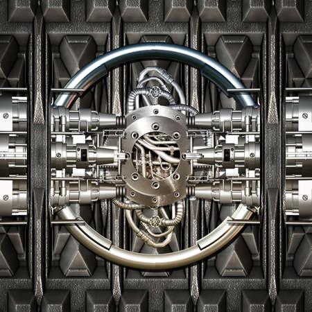 Ein Fantasy-Maschine mit verschiedenen Teilen zusammengesetzt Standard-Bild - 42477749