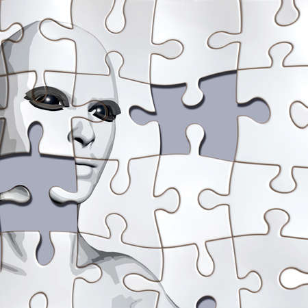 psychiatry: A person considered a puzzle from the back
