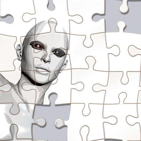 mental confusion: A person considered a puzzle from the back