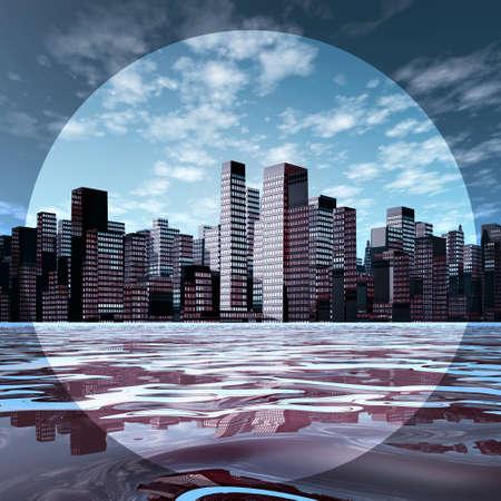 urbane: A skyline on the horizon in focus