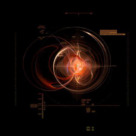 big bang: the technical data of the big bang Stock Photo