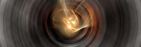 observed a large black hole in action Stock Photo