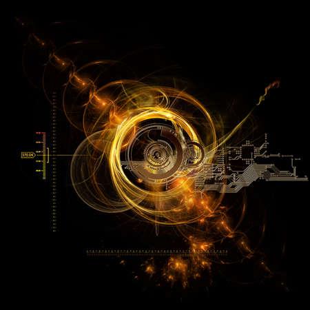 the technical data of the big bang Stok Fotoğraf