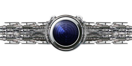 A smart watch with blue screen, radar Stok Fotoğraf