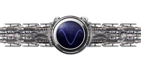 A smart watch with blue screen, sine Stok Fotoğraf