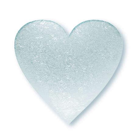 Cuore congelato in forma simbolica, illustrazione 3D Archivio Fotografico - 59848762