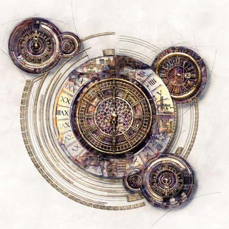 Technische und grafische Elemente und Timer, 3D-Darstellung