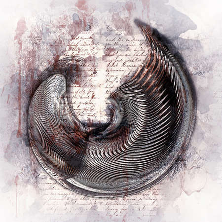 Grunge style motif with text background, 3D Illustration Stok Fotoğraf