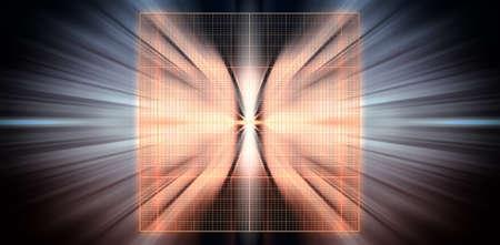 quark: Just before the collision, 3D illustration