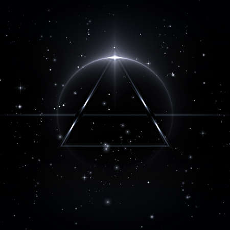 Mystische Formen in den Sternenhimmel, 3D-Illustration Standard-Bild - 69721396