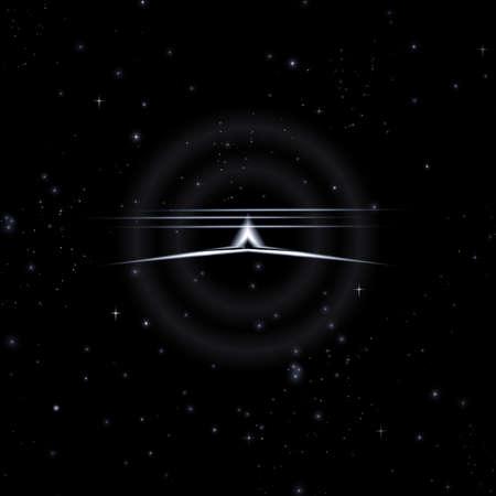 Mystische Formen in den Sternenhimmel, 3D-Illustration Standard-Bild - 69734158