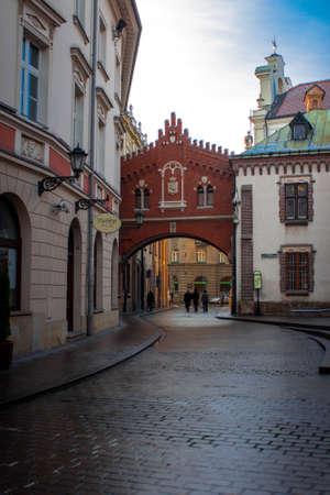 old street in the Krakow