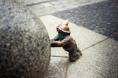 dwarves: Fabulous dwarves in Wroclaw Stock Photo