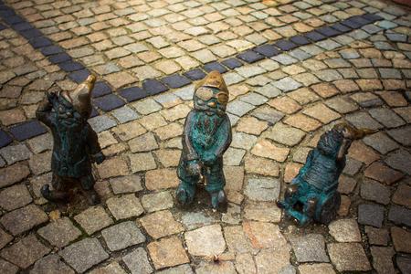 fabulous: Fabulous dwarves in Wroclaw Stock Photo