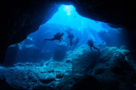 Cave diving Banque d'images