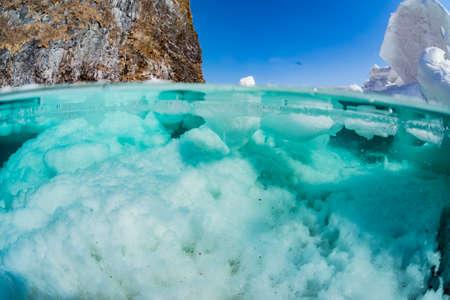 Drift ice,half water Banco de Imagens