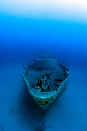 Wreck diving in Kas, Turkey Stock Photo