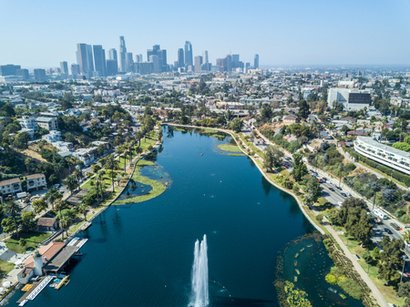 Los Angeles - Drone View from Echo Park