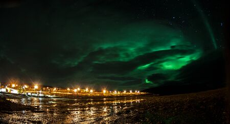 Picture shows the northern lights in Norway Stock Photo