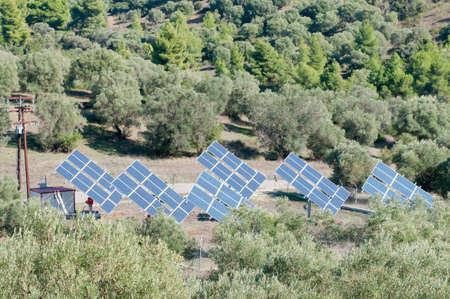 Solar panels used to produce electricity Stok Fotoğraf