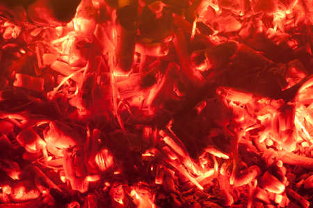 Hot embers from a BBQ photo